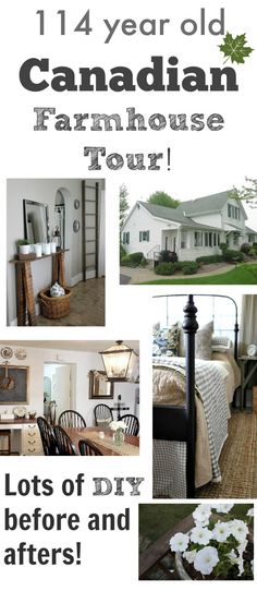 A great real-life farmhouse tour with lots of before and after photos! Beautiful home, love it all! Farmhouse Chic, Country Farmhouse, Farmhouse Renovation, Farmhouse Remodel, Hm Home, Style Deco, The Ranch, Old Houses, Farm Houses