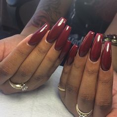 Fall and winter nail art idea for long nails Sexy Nails, Dope Nails, Nails On Fleek, Perfect Nails, Gorgeous Nails, Pretty Nails, Fabulous Nails, Jolie Nail Art, Nail Shop