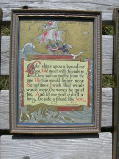 Framed Buzza Motto Like Ships That Pass by BuildingMyNest on Etsy, $32.00