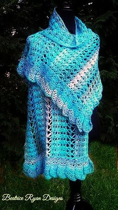 Midnight Breeze Shawl By Beatrice Ryan Designs - Free Crochet Pattern - (ravelry)