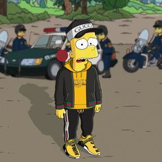 Bart Simpson New Horizons Android Simpson Wallpaper Iphone, Wallpaper Iphone Disney, Wallpaper Backgrounds, Dope Cartoons, Dope Cartoon Art, Simpsons Art, Hypebeast Wallpaper, Sneaker Art, Men With Street Style