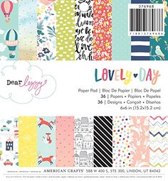 American Crafts 376968 Dear Lizzy Lovely Day Paper Pad 6 X 6 36 Sheet Paper Pad >>> Read more  at the image link.Note:It is affiliate link to Amazon.