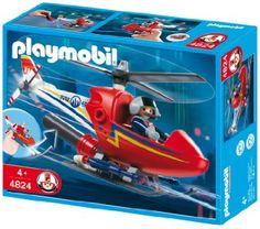 Playmobil - 4824 - Hélicoptère de pompier