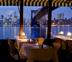 River Cafe in Brooklyn! Best view of Manhattan.