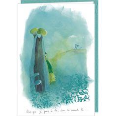 """Anne-Sophie Rutsaert carte postale double (12.2 x17.8 cm)  """"Parce que je pense à toi..."""""""