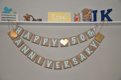 Happy Anniversary Banner by JKreations2013 on Etsy, $24.50