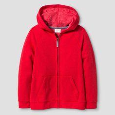 Boys' Cozy Fleece Hooded Sweatshirt Cat & Jack - Red L, Boy's, Really Red