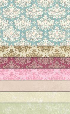 【テクスチャ】アンティークな柄パターンが、緊張感なく背景を埋めてくれる。高画質無料テクスチャ。