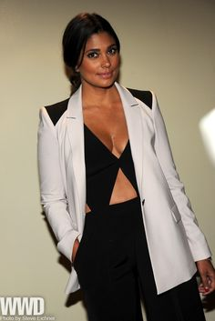 womensweardaily:    Rachel Roy  at 'The Campaign' premiere in New York