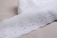 This item is unavailable White Embroidery, Embroidery Thread, Embroidery Patterns, Knitting Patterns, Eyelet Lace, Cotton Lace, Lace Trim, Sewing Trim, Lace Patterns