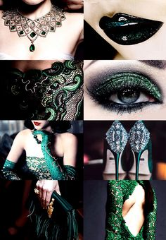 "ohallows: ""hp aesthetics: yule ball + slytherin ""gryffindor 
