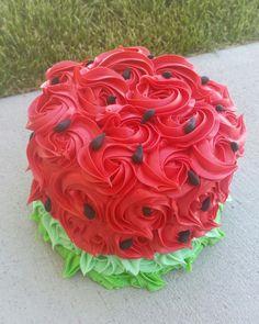 Watermelon smash cake More