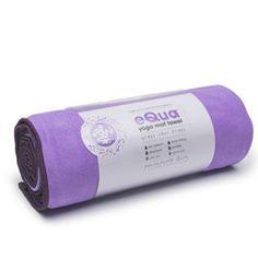 Manduka eQua towel provides a hygienic surface for your yoga mat.
