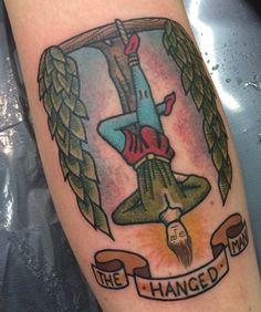The Hanged Man tarot tattoo - Sammy Winks