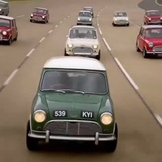 """Excellent video from our friends at """"For the Love of Cars."""" One of the best documentaries on the Mini we have seen. Mini Cooper Classic, Mini Cooper S, Classic Mini, Bmw Isetta 300, Retro Cars, Vintage Cars, Classic Trucks, Classic Cars, Caravan"""