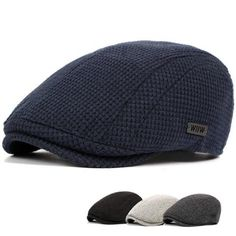 8fef1dbdd56 Men Cotton Gatsby Flat Beret Cap Adjustable Knit Ivy Hat Golf Hunting  Driving Cabbie Hat is hot sale on Newchic Mobile.