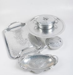8bdb8e81b Pewter and Aluminum Serveware Assortment
