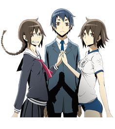 Durarara!!x2 Aoba, And The Orihara Sisters oh my god Aoba!!