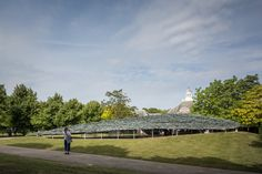 This slideshow of images offers a closer look at the rocky canopy that forms this year's Serpentine Pavilion by Japanese architect Junya Ishigami. Steel Columns, Roof Structure, Galleries In London, Architectural Features, Dezeen, Pavilion, Architecture, Gallery, Pictures
