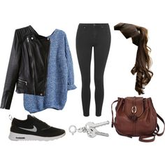 Teen Wolf - Theo Cold Weather Inspired Outfit by sunshine-hippie-girl on Polyvore featuring mode, Topshop, NIKE and Brighton