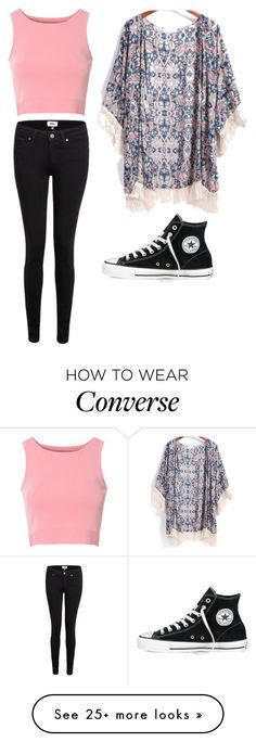 """Simple. Stylish."" by allison-b-1806 on Polyvore featuring Glamorous, Paige Denim and Converse"