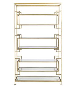 via BKLYN contessa :: from high street market :: bianca etagere :: iron frame with gold leaf finish :: $2325
