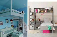 Conceito de cama de beliche para economizar espaço