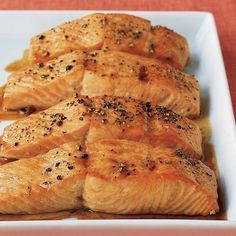 Soy-Glazed Salmon. food