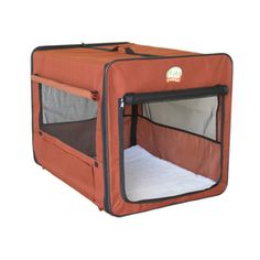 Go Pet Club 1.5-ft x 1.37-ft x 1.37-ft Brown Collapsible Plastic Pet Crate