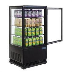 Vitrina frigorífica vertical negra 68 L. Polar Expositor refrigerado