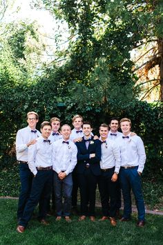 Groomsmen in Bow Ties | Mary Claire Photography | Bridal Musings Wedding Blog