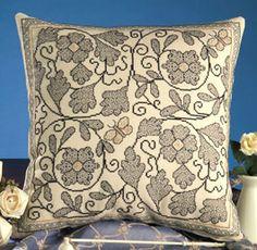 Bluework Embroidered Quilt Square--International - Swap-bot