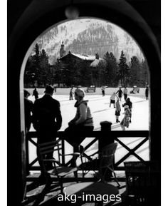 - Ice rink at Hotel Kulm in St Moritz, circa Credit: akg-images / Imagno White Christmas, Vintage Christmas, Christmas Holidays, Skating Rink, Figure Skating, Skating Pictures, Switzerland Vacation, Good Old Times, Ice Skaters