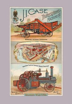 J.I. Case Threshing Machine Co. Racine Wisconsin 12x18 Giclee on canvas
