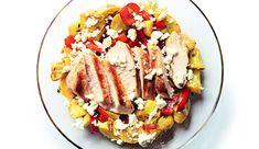 Ofengemüse mit Huhn und Feta
