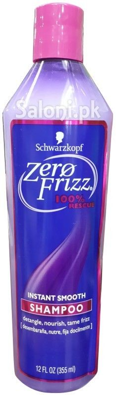 SCHWARZKOPF ZERO FRIZZ 100% INSTANT SMOOTH SHAMPOO 355 ML Saloni™ Health