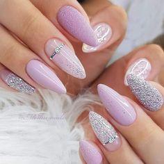 Elegant Nails, Classy Nails, Pastel Nails, Purple Nails, Chic Nails, Trendy Nails, Best Acrylic Nails, Acrylic Nail Designs, Nagel Bling