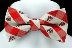 New Ohio State University Buckeyes Plaid Mens Bow Tie Adjustable College Bowtie #EaglesWings #BowTie