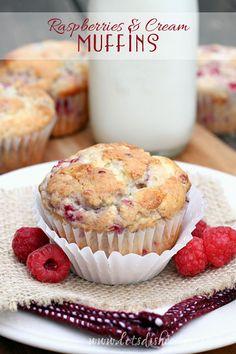 Raspberries and Cream Muffins