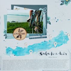 Kő, papír, satöbbi: Balaton-kör: 5 nap alatt bringával a Balaton körül Scrapbook Layouts, Albums, Handmade, Hand Made, Scrapbooking Layouts, Craft, Handarbeit, Scrapbook Page Layouts