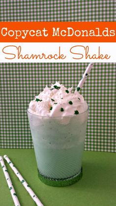"If you are like me, you not so patiently wait for the Shamrock shake every year. Now you don't have to! This copycat shamrock shake tastes just like the ""real"" thing and is so much more budget friendly!"