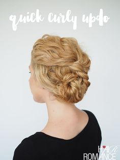 Two-Minute Updo for Curly Hair