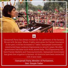 Dimple Yadav mention Farmer Insurance Schemes initiated by Akhilesh Yadav. Dimples, Farmer, The Past, Farmers