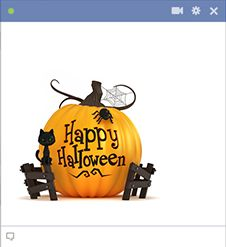 Add some Halloween merriment to Facebook by posting this emoticon.