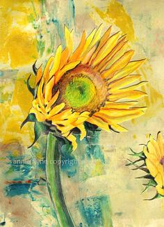 ArteHouse Sunflower - Wood Wall Décor by Annie Flynn Sunflower Drawing, Sunflower Art, Vincent Van Gogh, Pencil Drawings, Art Drawings, Sunflower Wall Decor, Yellow Turquoise, Drawing For Beginners, Wood Wall Decor