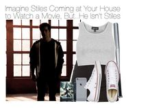 """Imagine Stiles Coming at Your House to Watch a Movie, But..He Isn't Stiles"" by fandomimagineshere ❤ liked on Polyvore featuring Christian Dior, Topshop, Converse and bathroom"