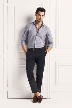 David Gandy for Massimo Dutti 2013 (NYC Limited Edition) David Gandy Style, David James Gandy, Mens Smart Outfits, Stylish Men, Men Casual, Smart Casual, Casual Fall, Famous Male Models, Androgynous Models