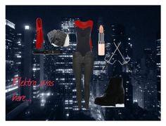 """Elektra (Netflix Daredevil Series)"" by taliadina on Polyvore featuring Topshop, Lauren Ralph Lauren, WearAll, Refresh and Rimmel"
