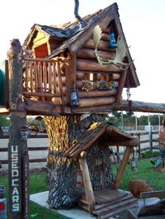 whimsical outdoor playhouse | ... rustic logs and the whimsical feel to this funny playhouse by estela