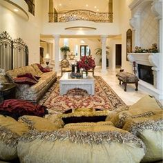 Mansion home luxury bedroom
